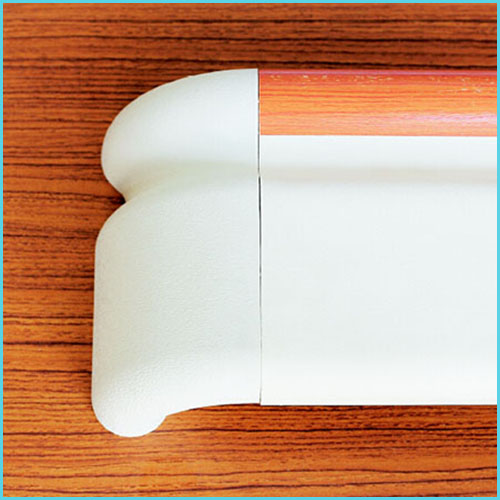 nylon plastic pvc wall mounted anti-collision handrail