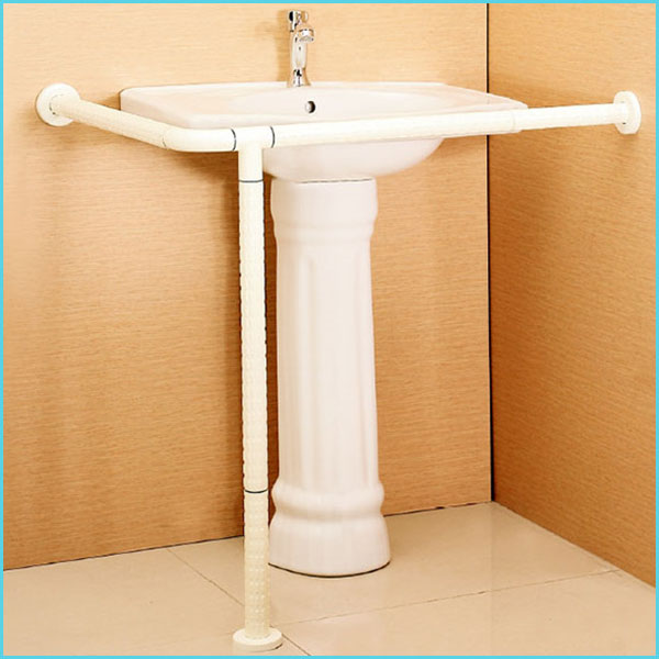 bathroom Curve handicap toilet grab bar for disabled