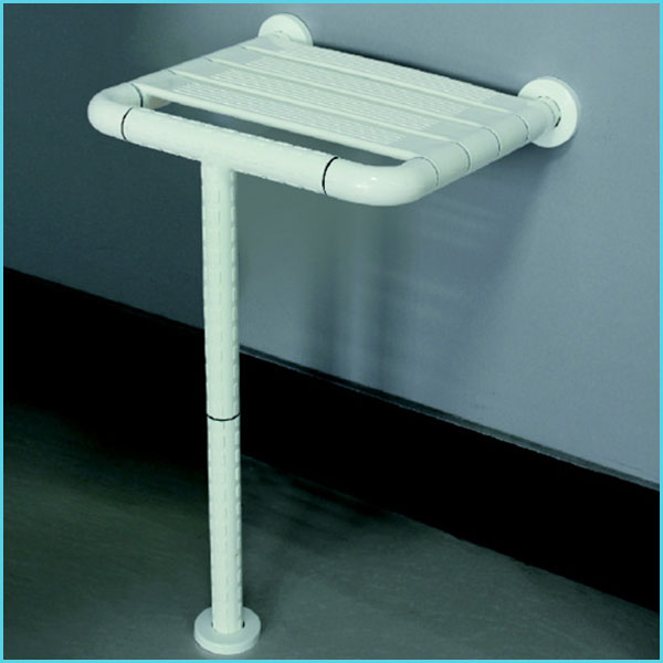 nylon plastic ABS hospital bathroom toilet shower room handicap wall mounted folding chairs