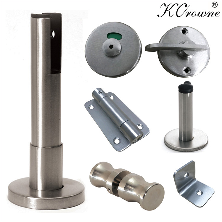 Good Quality Durable 304 Stainless Steel Public Washroom Toilet Cubicle Partiiton Hardware Accessories Fittings