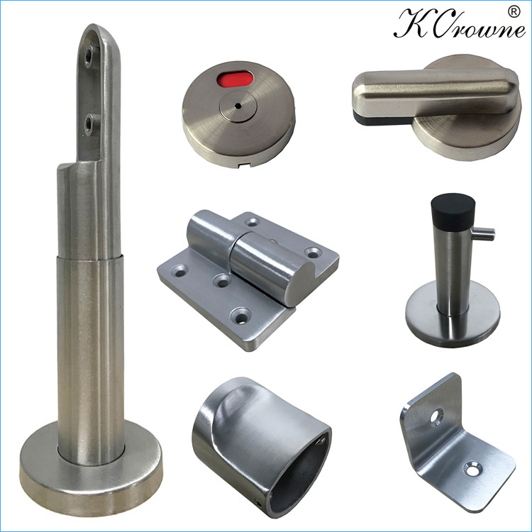New Design Fire Proof Anti Corrosion 304 SS Stainless Steel Toilet Cubicle Partition Hardware Accessories Fittings