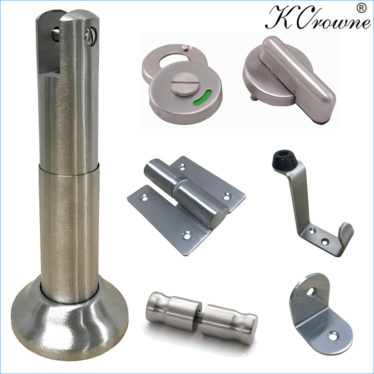 High Quality 304 SS Stainless Steel HPL Toilet Cubicle Partition Hardware Accessories Fittings Ironmongery