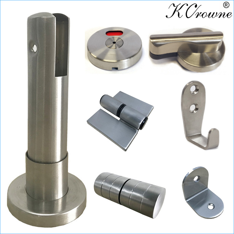 New Design Stainless Steel Cubicle Fittings Toilet Partition Accessories Hardware