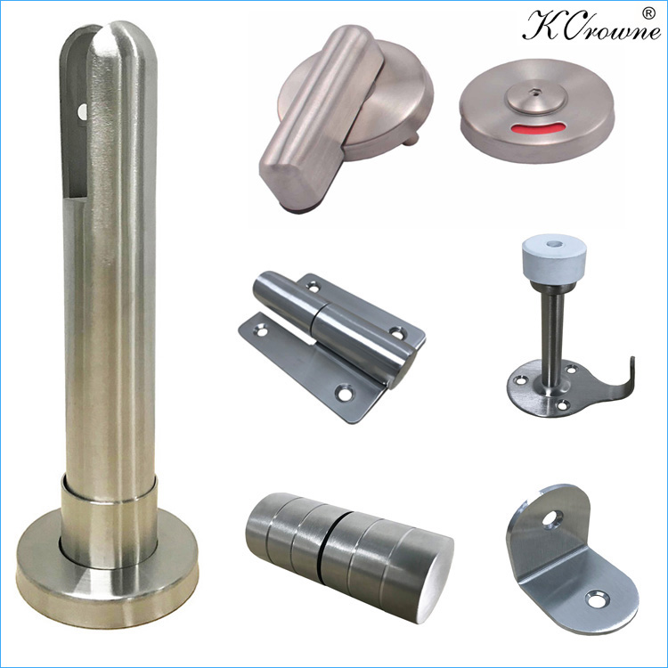 Factory Direct Supply Waterproof HPL Compact Laminate Toilet Cubicle Partition Hardware Accessories Fittings Ironmongery
