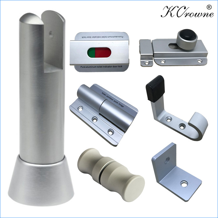 Modern Corrosion Resistant Toilet Cubicle Partition Aluminium Alloy Hardware Fitting Accessories