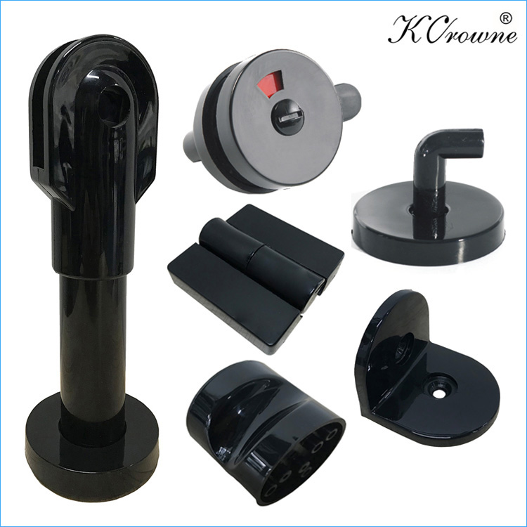 Hot Selling Anti-rust Cheap HPL Bathroom Toilet Cubicle Partition Black Grey White Nylon Hardware Accessories Fittings