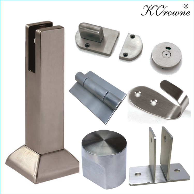 304 SS Stainless Steel Public High Pressure Laminate Toilet Cubicle Partition Hardware Accessories Fittings