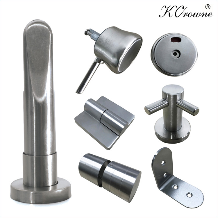 304 Stainless Steel Toilet Cubicle Partition WC Accessories Parts Fittings Hardware Ironmongery