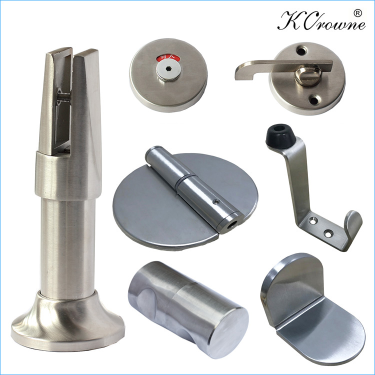 Anti-rust 304SS Stainless Steel Bathroom Toilet Cubicle Partition Hardware Accessories Fittings Supplier