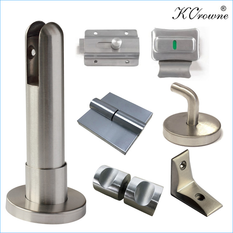304 Stainless Steel Compact Panel Toilet Cubicle Partition Bathroom Accessories Hardware Fittings
